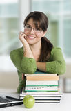 Educated young woman Stock Photo