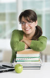 Educated young woman Stock Images