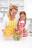 Educating kids for healthy lifestyle choices - mother and daught Stock Photo