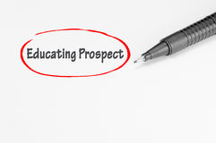 Educating Prospect - Business Concept Royalty Free Stock Photos