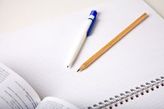 Education. An abstract photo of some office supplies Royalty Free Stock Photo