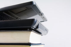 Education. Image of a laptop on top of books education concept Royalty Free Stock Images