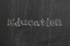 Education. Word write with chalk on blackboard Royalty Free Stock Photography