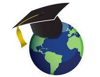 Education. Globe isolated over a white background Royalty Free Stock Image