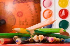 Education. Still life with education stuff Royalty Free Stock Photos