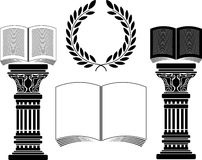 Education. Stencil. first variant. Vector illustration Stock Image