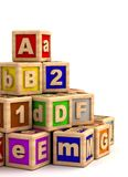 Education. Play Blocks (computer generated image stock illustration