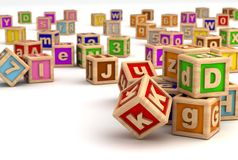 Education. Play Blocks ( Computer generated Image Vector Illustration