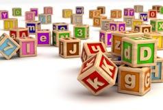 Education. Play Blocks ( Computer generated Image vector illustration