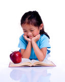 Education. Going to school is your future. Education, learning, teaching. A young girl thinks about her future Stock Photo
