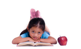 Education. Going to school is your future. Education, learning, teaching. A young girl thinks about her future Royalty Free Stock Photos