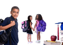 Education. Going to school is your future. Education, learning, teaching. Young children ready for school Stock Images