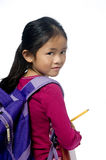 Education. A young girl is ready for school. Education, Future Stock Photography
