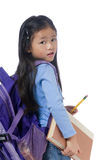 Education. A young girl is ready for school. Education, Future Royalty Free Stock Photos