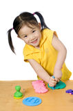 Education. Learning, teaching. Playing with play doh Royalty Free Stock Photo
