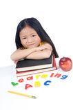 Education. A young girl is ready for school. Education, Future Stock Images