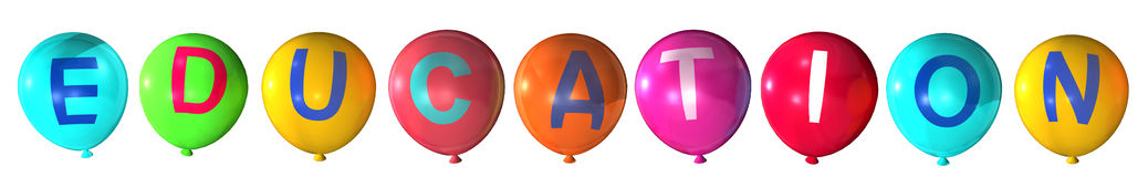 Education. Word in abstract balloons Royalty Free Stock Photography