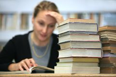 Education. Soft, focus at a books stock photography