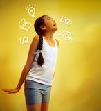 Education. A young girl thinking of her future and education with copy space Royalty Free Stock Photos