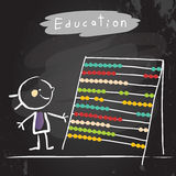 Education abacus kid Stock Image