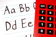 Education ABCs. Written letter of the alphabet for students Stock Photos