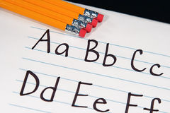 Education ABCs. Written letter of the alphabet for students Stock Images