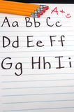 Education ABCs. Written letter of the alphabet for students Royalty Free Stock Photo