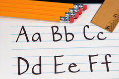 Education ABCs. Written letter of the alphabet for students Royalty Free Stock Image
