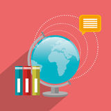Education, academic trainning and science. Graphic design, vector illustration Stock Photos