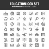 EDUCATION & ACADEMY ICON SET royalty free illustration