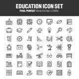 EDUCATION & ACADEMY ICON SET royalty free illustration