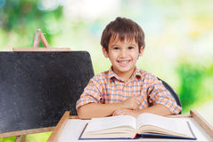 Education activities in the front of small board Royalty Free Stock Photos