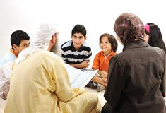 Education activity in Ramadan stock image