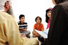 Education activity in Ramadan, Stock Images