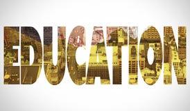 Education against new york Stock Photo