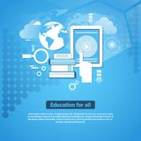 Education For All Template Web Banner With Copy Space Learn Online Concept Royalty Free Stock Photography