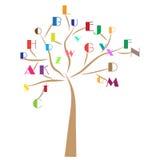 Education alphabet tree stock illustration