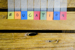 Education alphabet Stock Image