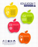 Education apple infographic Royalty Free Stock Photo