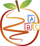 Education apple logo Stock Image