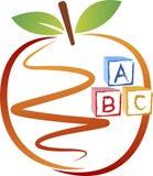 Education apple logo Stock Image