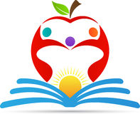 Education apple. A vector drawing represents education apple design stock illustration