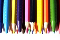 Education artist desk with water colour, crayons,, pencil with copy space on table. Back to school. Education artist desk with water colour, crayons,, pencil stock photography