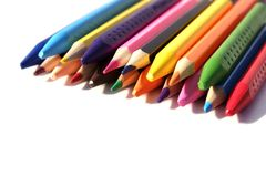 Education artist desk with water colour, crayons,, pencil with copy space on table. Back to school. Education artist desk with water colour, crayons,, pencil royalty free stock image