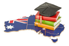 Education in Australia concept, 3D rendering. Isolated on white background Royalty Free Stock Photography