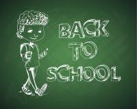 Education back to school chalboard kid. Stock Image