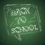 Education back to school chalkboard social bubble. Royalty Free Stock Photography