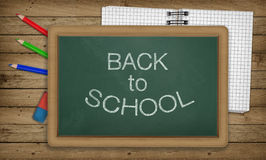 Education, Back to School Concept, Blackboard, Notepad Royalty Free Stock Image