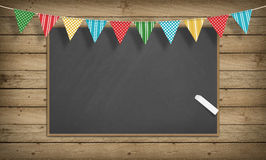Education, Back to School Concept, Blank Empty blackboard Royalty Free Stock Photos
