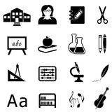 Education and back to school icon set Royalty Free Stock Photography